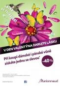 VALENTÝNSKÁ AKCE v Marionnaud – od 31. ledna do 14. února 2012 potrvá slevová nabídka na parfémy – při nákupu jedné vůně dostanete tu druhou (levnější) se slevou 40 %!