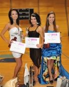 Vítězky Miss sportaerobic : zleva Andrea Podlucká, Vendula Scheibová, Denisa Biskupová.