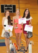 Vítězky Miss sportaerobic Junior : zleva Alžběta Franková, Sabina Bučanová, Daniela Radikovská.