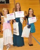 Vítězky Miss sportaerobic Kadet: zleva Antonie Frebortová, Aneta Koupá, Kateřina Procházková.