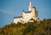 Hrad Marksburg, který je jedinou neporušenou pevností na Rýnu.