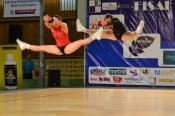 Daniel Komarov a Kateřina Šmejkalová v akci na FISAF AEROBIC and DANCE 2012