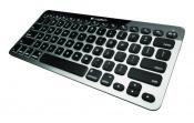 Klávesnice Logitech Bluetooth Easy-Switch Keyboard má inteligentní podsvícení kláves a využívá technologii snadného přepínání Bluetooth