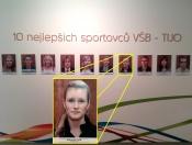 Lucie Reichlová v Síni slávy VŠB-TUO