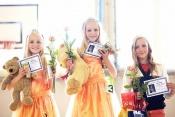Hvězdičky aerobiku (vedlejší kategorie) - tři vítězky v roce 2013 vyhlášeny na Dívce aerobiku open 2013