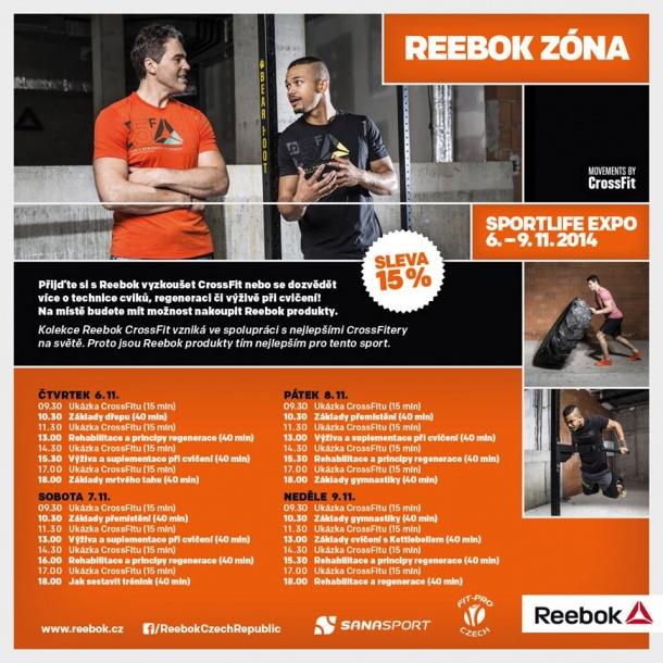 Reebok zóna na SPORT LIFE EXPO 2014 v Brně