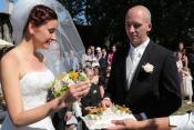 Svatba aerobičky Dany Kučerové, dnes už Novákové
