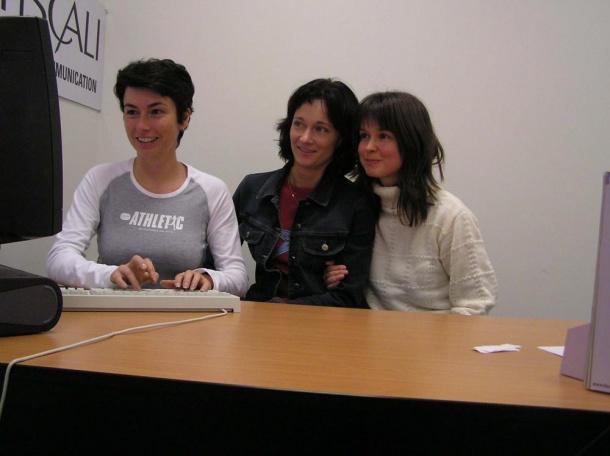 Jana Havrdová a  Jana Boučková při on-line chat
